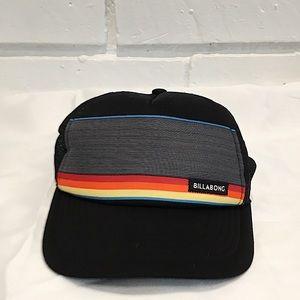 Billabong Black Retro Print SnapBack trucker Hat